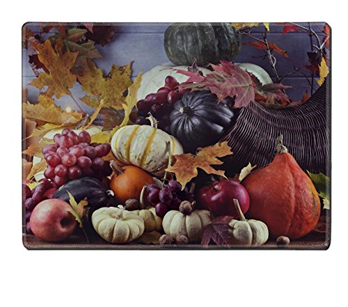Luxlady Placemat Retro or vintage image of a Cornucopia or Horn of Plenty with fresh vegetables IMAGE 33386828 Customized Art Home Kitchen