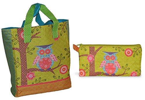 Shopper Und Kleine Tasche Mit Eulen Und Blumen Kindertasche Tasche