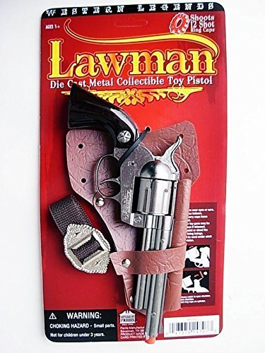 Prop SHERIFF/Lawman die cast Pistol Cowboy Western Toy CAP GUN Colt 45 Spain ()