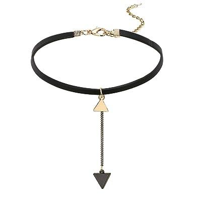 1c4c80768559 Bishilin Joyería Choker Gargantilla de Tatuaje y Collar Gargantilla de  Terciopelo con Colgante Collare para Mujer  Amazon.es  Joyería