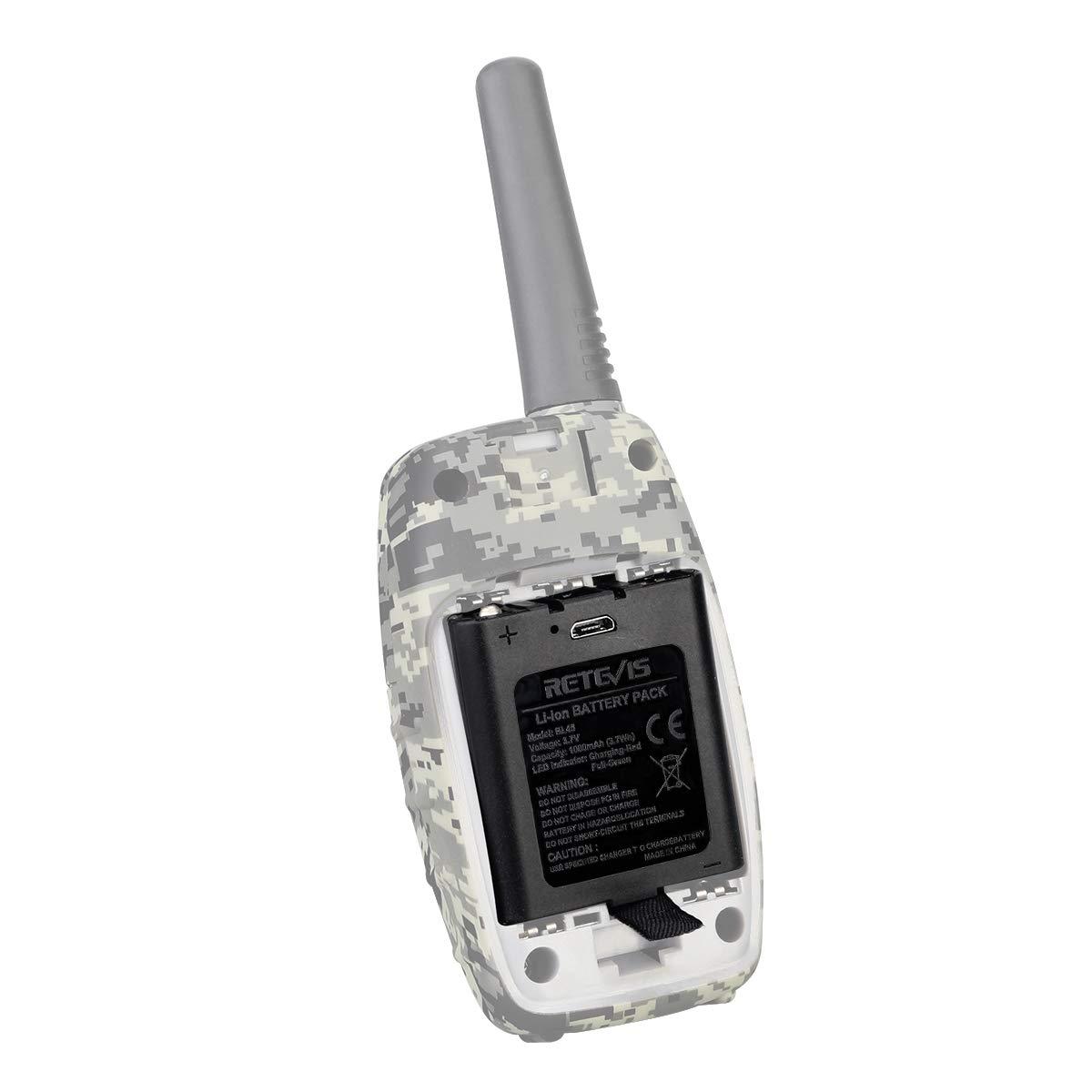 2 Piezas Retevis BL45 Walkie Talkie Bater/ía Paquete de Bater/ías Recargables de Iones de Litio de 3.7V 1000mAh Compatible con Retevis RT628 RT45 RT46 Walkie Talkies