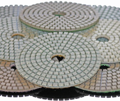 Stadea PPW240B Diamond Polishing Pads 6 Inch Set For Marble Concrete Stones Terrazzo Granite Floor Polishing by STADEA