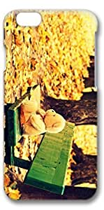 iPhone 6 Case, Personalized Design Protective Covers for iPhone 6(4.7 inch) PC 3D Case - Bear Doll Autumn Yellow Maple Leaves