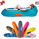 Chillbo Don POOLIO Best Pool Floats Inflatable Lounger Pool Float Air Lounge Kids Hammock Air Couch Camping Accessories Portable Hammock Inflatable Chair (Turquoise + Orange)