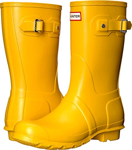 Hunter Womens Original Short Yellow 1 Rain Boot - 8 B(M) - Yellow Rain Boots Hunter