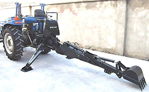 3 Point Hitch PTO BH6600 Hydraulic Farm Tractor Backhoe Attachement Excavator with Bucket, Category 1