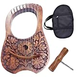 Scottish Traditional Irish Lyre Harp Rosewood