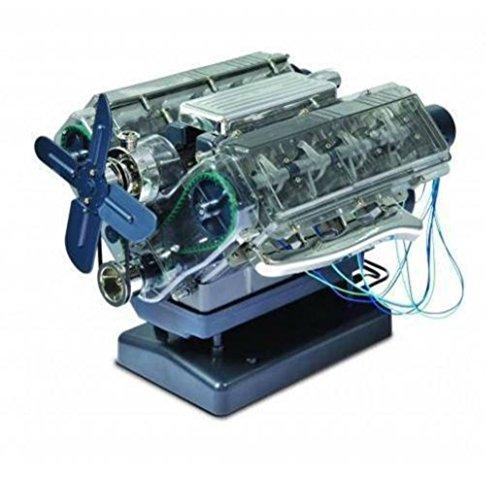 VISIBLE V8 internal combustion OHC engine motor working model Haynes Kit box New