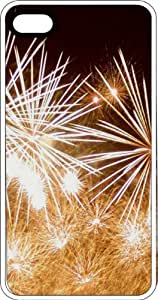 Exploding Fireworks White Rubber Case for Apple iPhone 6 Plus