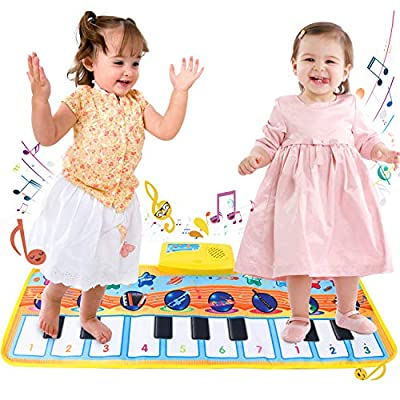 HuoBi Musical Piano Mat Keyboard Play Mat,Early Music Education Toys Mat for Kids, Musical Blanket Touch for Toddlers, Keyboard Mat Playmat Education Toys Gifts for Boys Girls: Toys & Games