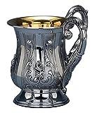 Hazorfim Margarita Netilat Yadayim Sterling silver Israel handmade .925 925 wedding gift present Holy Land Jerusalem Hatzorfim Hazorfim hands washing cup before meal Jewish housewarming