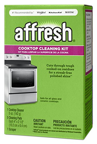 Affresh W11042470 Cleaning Kit (Cooktop Cleaner, Scraper and Scrub Pads) (Ceran Top)