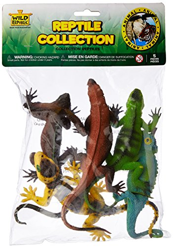 Stocking stuffer ideas 4 yr old boys. Wild Republic Polybag Reptile 5 Pieces