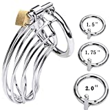 Ultra Stainless Steel Metal Public Lock Buckle cage Male (3 Rings)