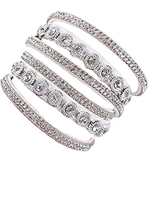 Baibaoroom Big Stone Double Wrap Leather Bracelet