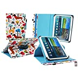 Emartbuy Samsung Galaxy Tab E 9.6 Inch Tablet Universal ( 9 - 10 Inch ) Multi Coloured Puppies 360 Degree Rotating Stand Folio Wallet Case Cover + Stylus