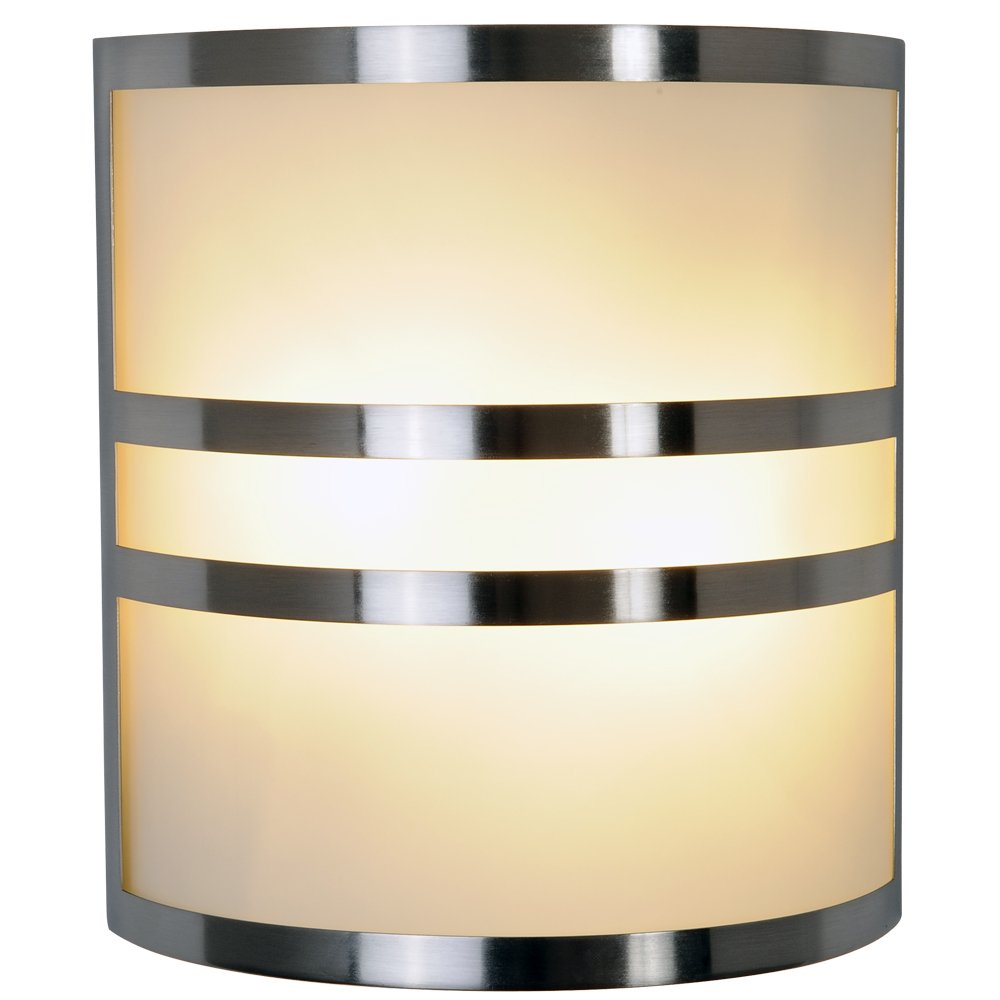 Bon Monument 617605 Brushed Nickel Wall Sconce With Accents, 10 In.   Lighting  Sconces Indoor   Amazon.com