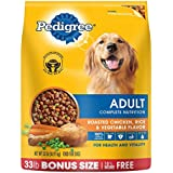 PEDIGREE Adult Roasted Chicken, Rice & Vegetable Flavor Dry Dog Food 33 Pounds