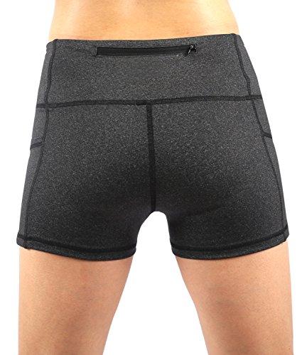 Picotee Women's Yoga Shorts Workout Running Shorts Yoga Short Pants Tights With Pocket