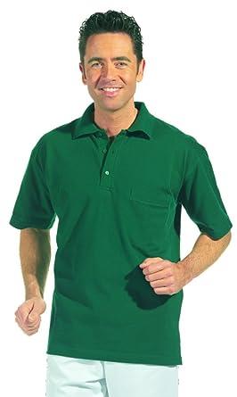 clinicfashion 12814020-10 Polo-Shirt Unisex für Damen und Herren, grün,  Brusttasche, Mischgewebe, Größe XS-XXXL