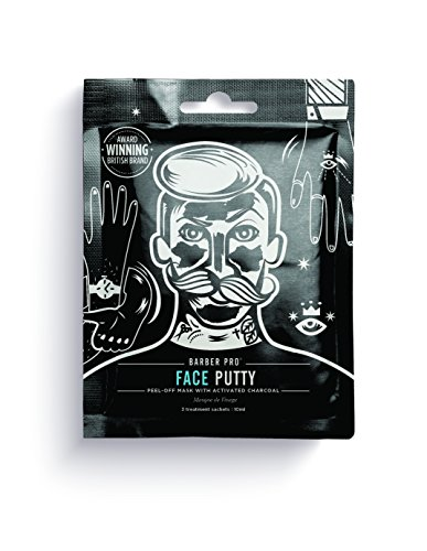 [BARBER PRO FACE PUTTY black peel-off mask with activated charcoal] (Nose Putty)