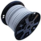 3/8'' x 300' White Shock Bungee Rubber Rope Cord - Woven Jacketed