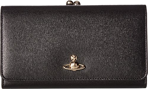 Vivienne Westwood Women's Saffiano Frame Wallet Black One Size by Vivienne Westwood