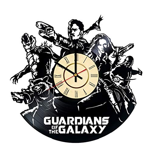 - Guardians of the Galaxy Vinyl Clock Gift for Marvel Comics Fans Superhero Team Wall Decor Rocket Raccoon Art Gamora Living Room Artwork