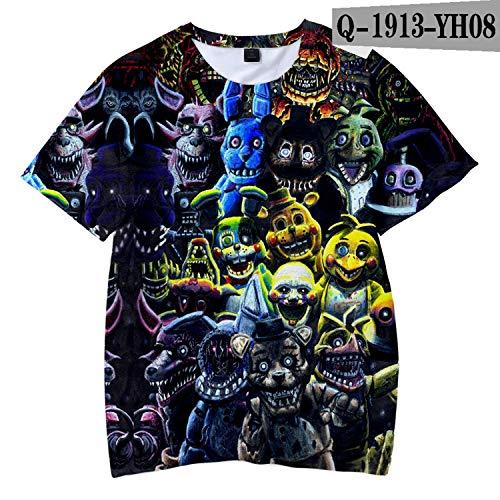 - KoreaFashion FNAF Shirt Cotton Merch Shirts for Boys Girls Womens Mens Youth Birthday Welcome Funny Nightmare Dress