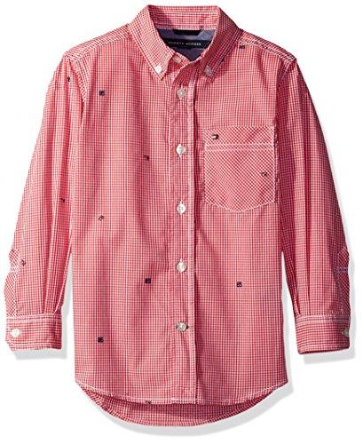 Tommy Hilfiger Boys Long Sleeve Gingham Woven Shirt