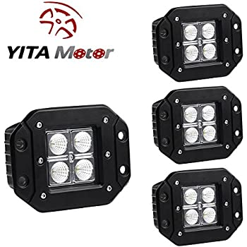 installing flush mount led lights in rear bumper flood square pod light driving fog waterproof jeep pickup truck year tail bump