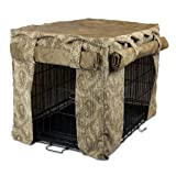 Snoozer Cabana Pet Crate Cover, Medium, Sicilly Bone/Peat