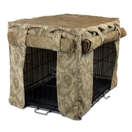 Snoozer Cabana Pet Crate Cover, Large, Sicilly Bone/Peat by Snoozer