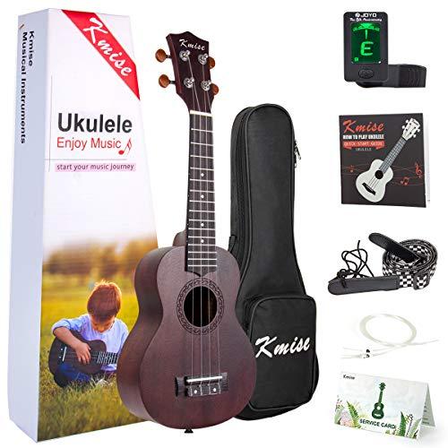 Soprano Ukulele With Ukelele Beginner Kit (Uke Bag Strap Tuner String) From Kmise