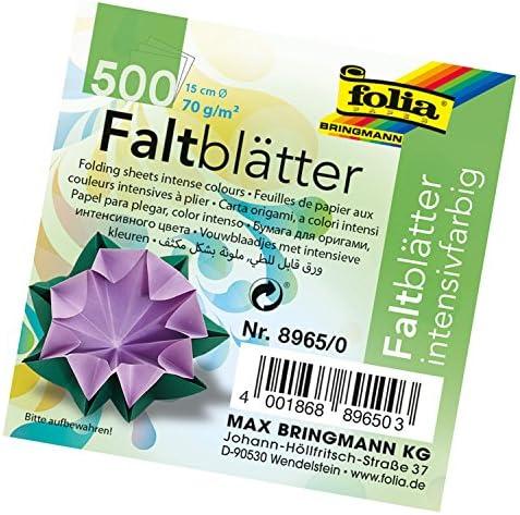 6 x 6, Global Art Folia Semi-Transparent Origami Paper 6-Inch-by-6-Inch Bulk Pack 500 Sheets