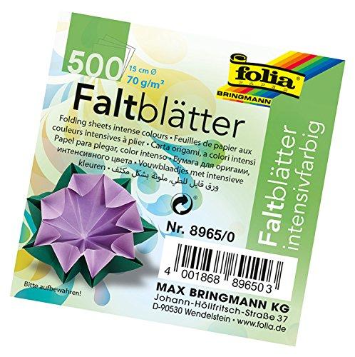 Global Art Folia Origami Paper 6-Inch-Circle Assorted Colors 500 Sheet Bulk Pack