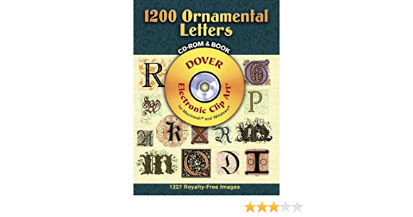 Fancy Alphabets Ornamental Type Design Resource Softcover Book with CD-ROM