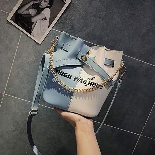 Sac de Mode Sac feu Sauvage WSLMHH d'été Version coréenne Messenger Super épaule Sac la Paquet Bleu Seau Petit marée Femme qXdwx0Cp