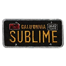 Sublime California License Plate Long Beach Ska Punk Reggae Band Embroidered Iron On Aplique Patch