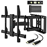 "TV Wall Mount Full Motion Swivel for Most 37"" -70"" LED, LCD, OLED, Plasma TVs up to VESA 600x400mm, 132lbs by PERLESMITH"