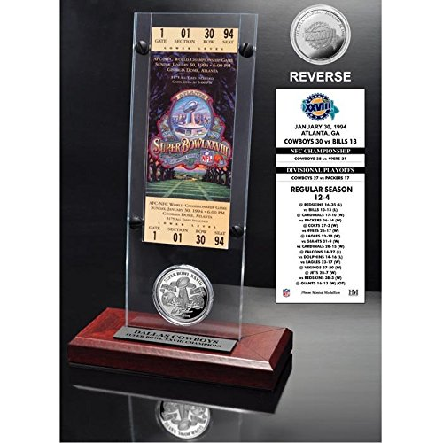NFL Dallas Cowboys Super Bowl 28 Ticket & Game Coin Collection, 12
