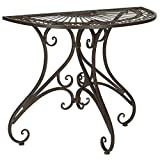 patio console table - Safavieh Outdoor Collection Annalise Rustic Brown Accent Table