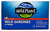 Wild Planet, Sardines No Salt in Water, 4.4 Ounce (Pack of 12)