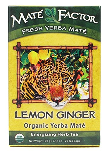 The Mate Fa Countor, Tea Mate Lemon Ginger Organic, 20 Count