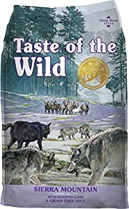 Taste of the Wild Sierra Mountain Dry Dog Food with Roasted Lamb. 30 lb. Bag. Fast Delivery