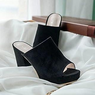 Donyyyy Zapatos de mujer, verano de tacón alto, zapatos, boca de pescado femenina inferior grueso Impermeable y zapatos de mujer.