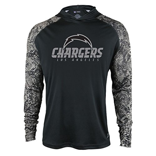 NFL San Diego Chargers Men's Zubaz Light Weight Synthetic Hood with Digital print Sleeves, X-Large, (San Diego Chargers Light)