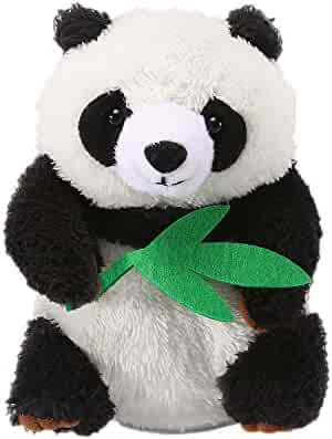 Yoego Cute Mimicry Pet Talking Panda Repeats What You Say Plush Animal Toy Electronic Panda Panda for Children/Toy Gifts Birthday Gifts Christmas Gift,4 x7 inches (Black & White)