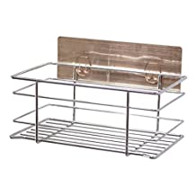Multi-Purpose Removable& Reusable Adhesive Stainless Steel Kitchen Sink Holder - Storage Basket Caddy for Sponge&Cleaners