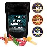 VEYO Nutrition 300 MG Hemp Gummies - Sour Hemp Gummy Worms with Natural Hemp Oil, No THC or CBD